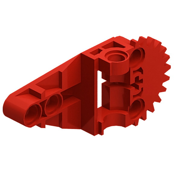 Red Technic Gearbox Half