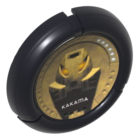 Black Bionicle Disk Mask Kakama Print