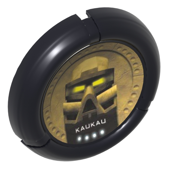 Black Bionicle Disk Mask Kaukau Print