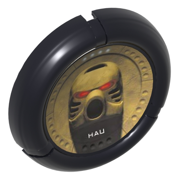 Black Bionicle Disk Mask Hau Print