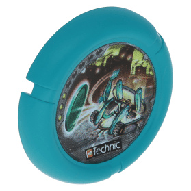 Dark Turquoise Throwbot Disk Turbo / City 3 pips