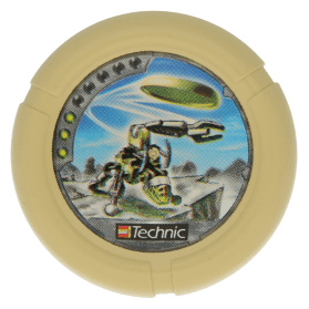 Tan Throwbot Disk Granite / Rock 3 pips