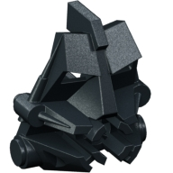 Black Bionicle Head Connector Block 3 x 4 x 1 2/3