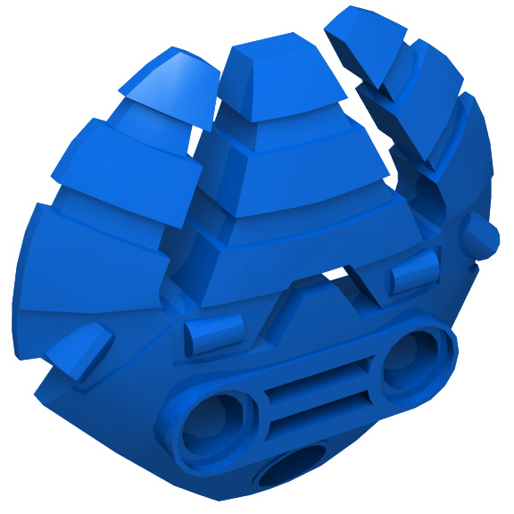 Blue Bionicle Weapon 5 x 5 Shield with Triple Blasters