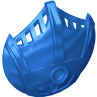 Blue Bionicle Weapon 5 x 5 Shield with 3 Top Fins