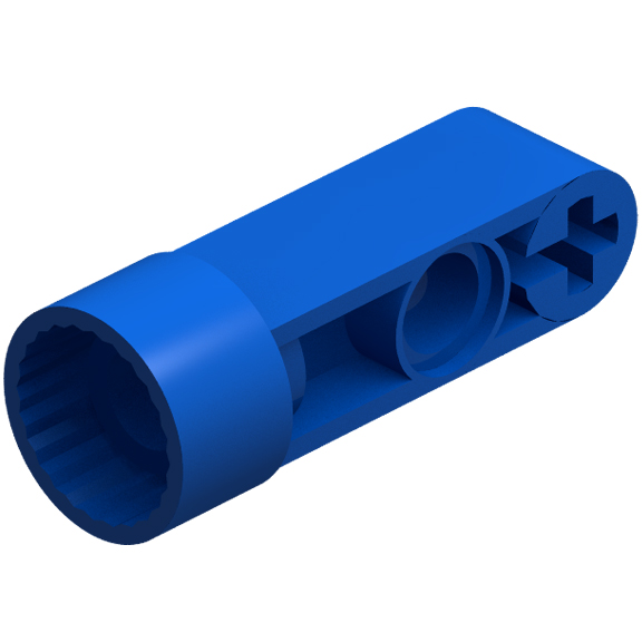 Blue Technic Rotation Joint Socket with 3L Thick Beam