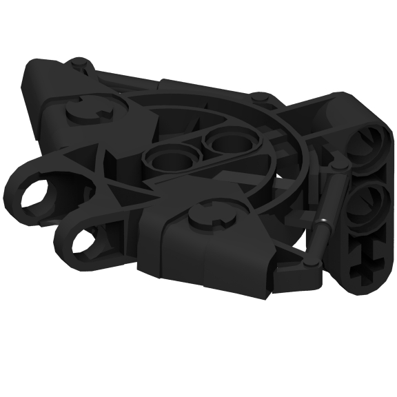 Black Bionicle Vahki Torso Upper Section